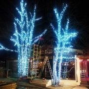Новогоднее оформление светодиодами.