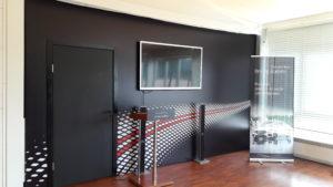 Декорации для мероприятий, оформление ресепшн, сцена с экраном