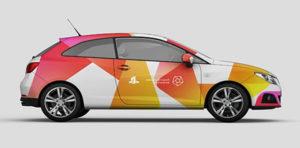 Срочное брендирование автомобиля, срочное нанесение логотипа на автомобиль, брендинг авто.