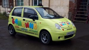 Оклейка авто рекламой, Реклама на авто, Наклейки на авто